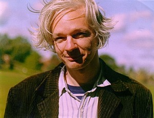 Assange in 2006. Photo by Marina Harris, released to public domain.