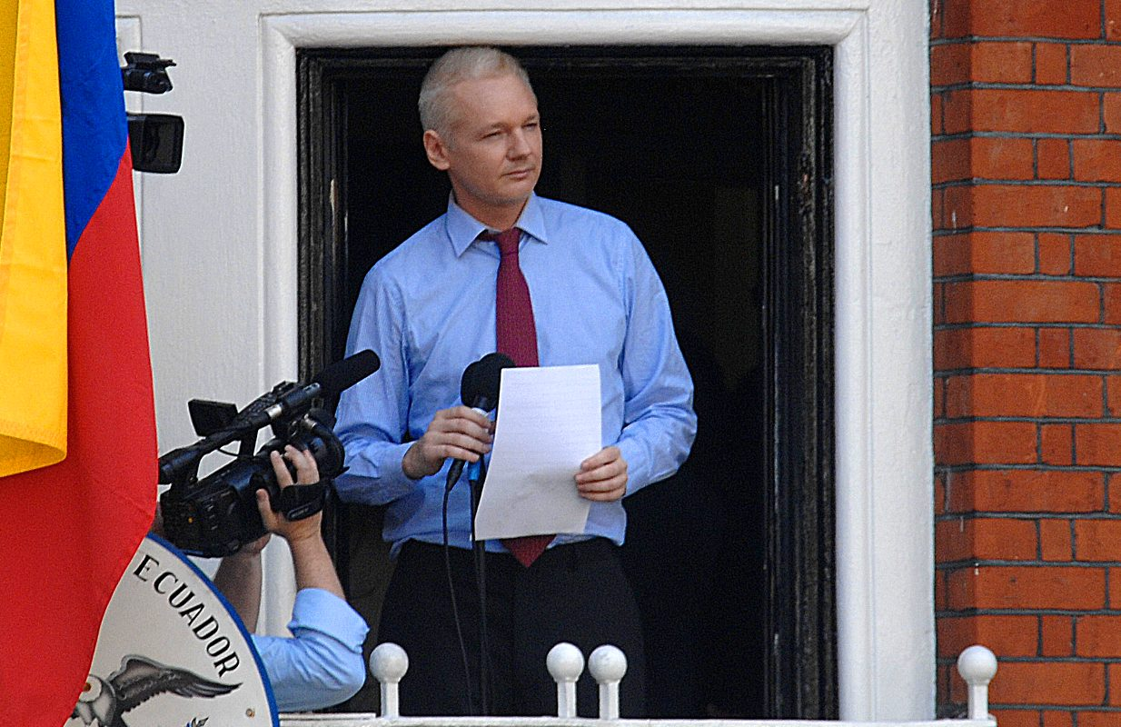 assange at embassy