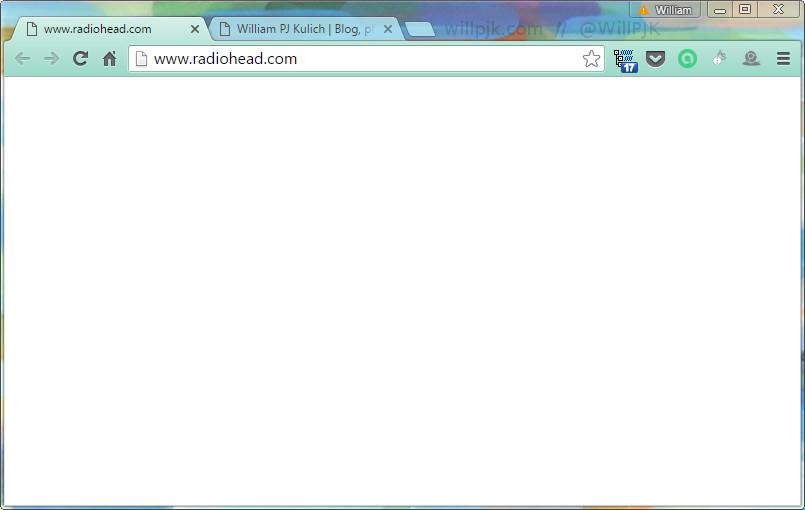 radiohead blank homepage