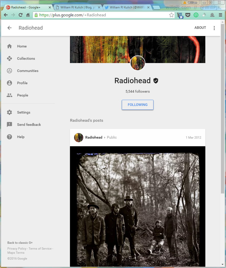 radiohead google plus full